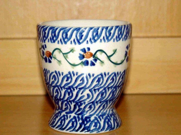 Polish Pottery Juice Cup Basketweave Boleslawiec Poland