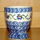 Polish Pottery Juice Cup Basketweave Boleslawiec Poland