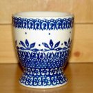 Polish Pottery Juice Cup Polish Lace Pattern  Boleslawiec Poland