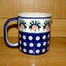 Polish Pottery Coffee Cup Strawberry Boleslawiec Poland