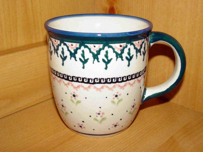 Polish Pottery Coffee Cup Madison Zaklady Ceramiczne Boleslawiec Poland