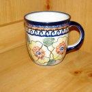 Polish Pottery Coffee Cup Unikat Art 126 Zaklady Ceramiczne Boleslawiec