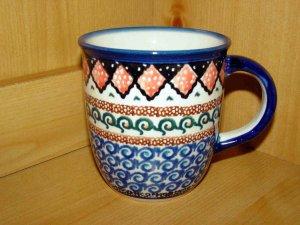Polish Pottery Coffee Cup Unikat  Zaklady Ceramiczne Art 108 Handsigned