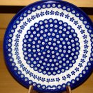 Polish Pottery Dinner Plate Flowering Peacock Zaklady Ceramiczne Boleslawiec Poland