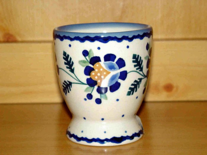 Polish Pottery  Juice Cup Jenny Flower Boleslawiec Poland
