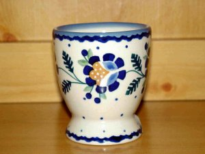 Polish Pottery  Juice Cup Jenny Flower Boleslawiec Poland