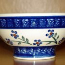 Polish Pottery Bowl Pedestal Daisy Chain Wiza Boleslawiec Poland