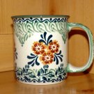 Polish Pottery Coffee Cup  Unikat In Provence Boleslawiec Poland