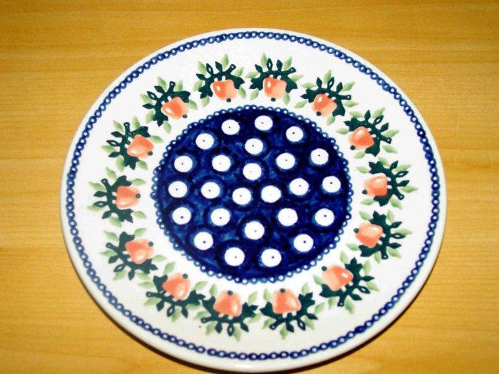 Polish Pottery Dessert Plate Strawberries Boleslawiec Poland