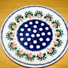 Polish Pottery Dessert Plate Strawberries Boleslawiec Poland