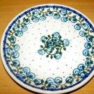 Polish Pottery Dessert Plate Little Flower Boleslawiec Poland