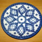 Polish Pottery Dessert Plate Lattice Unikat  Boleslawiec Poland