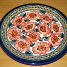 Polish Pottery Dinner Plate Unikat  Art 124 Signed Zaklady Ceramiczne Boleslawiec Poland