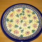 Polish Pottery Dinner Plate Unikat Art 126 Signed Zaklady Ceramiczne Boleslawiec Poland