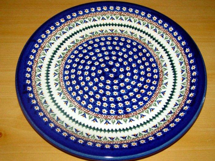 Polish Pottery Dinner Plate Unikat Art 104 Signed Zaklady Ceramiczne Boleslawiec Poland
