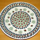 Polish Pottery Dinner Plate Chestnut  Boleslawiec Poland