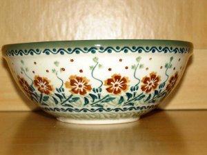 Polish Pottery  Bowl Unikat Tuscany Boleslawiec Poland