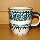 Polish Pottery Coffee Cup  Exclusive Unikat  Boleslawiec Poland