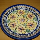 Polish Pottery Dessert Plate Boleslawiec Unikat Art 126 Handsigned!