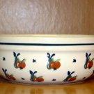 Polish Pottery Bowl From Boleslawiec Poland Cherrie's Pattern