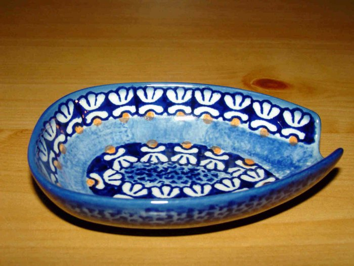 Polish Pottery  Spoon Rest Little Flowers Boleslawiec Poland