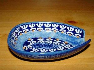 Polish Pottery  Spoon Rest Little Flowers Boleslawiec Poland