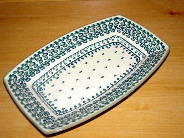 Polish Pottery Serving Dish Exclusive Unikat  Boleslawiec Poland