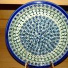 Polish Pottery Dinner Plate Unikat Gat 1 Shannon Signed Zaklady Ceramiczne Boleslawiec Poland