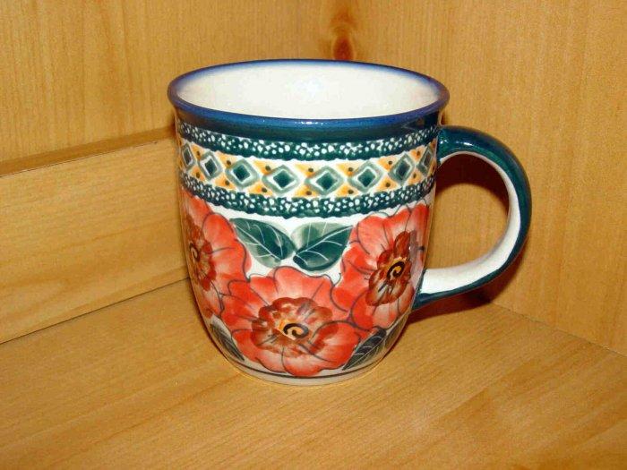 Polish Pottery Coffee Cup Art 124 Unikat Zaklady Ceramiczne Handsigned