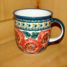 Polish Pottery Coffee Cup Art 124 Unikat Zaklady Ceramiczne Handsigned