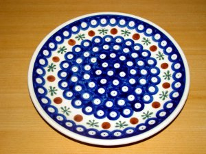 Polish Pottery Dessert Plate  Nature Gat 1 Zaklady Ceramiczne Boleslawiec Poland