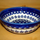 Polish Pottery Bowl  Gat 1 Flowering Peacock Zaklady C. Boleslawiec