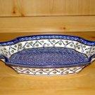 Polish Pottery Serving Tray Dish Festive Garden Unikat Zaklady Ceramiczne Poland