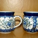 Polish Pottery Childrens Oh So Sweet Floral Bubble Mug Boleslawiec Poland