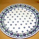 Polish Pottery Dinner Plate Country Flower Wiza Boleslawiec Poland