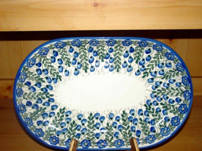 Polish Pottery Platter Signature Unikat Summer Woods From W.R. Ceramika Boleslawiec Poland