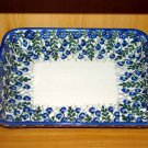 Polish Pottery Baker Signature Unikat Summer Woods From WR Ceramika Boleslawiec Poland