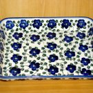Polish Pottery Baker Rectangular Signature Violet Village From Unikat WR Ceramika Boleslawiec Poland