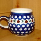 Polish Pottery Bubble Mug Nature Wiza Boleslawiec Poland