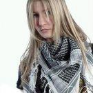 MENS / WOMENS ARAB SHEMAGH KEFFIYEH SCARF BLACK & WHITE