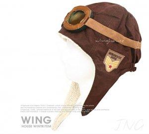 AEROPLANE FIGHTER PILOT CAP HAT w/ EARFLAP FOR BABY BOY GIRL KIDS PLANE SCHOOL