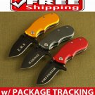 (3 PCS ) THE THREE MUSKETEERS -FIRE FIGHTER MARINES EMS TACTICAL FOLDING KNIFE