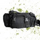 MULTI-PURPOSE ARMY MILITARY CAMO FANNY WAIST BAG - BLACK