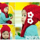 EYE CATCHING CUTE DAISY KNIT CROCHET BABY KID CAP HAT w/ EAR FLAPS GIFT IDEAS NR