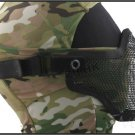 HALF FACE METAL MESH PROTECTIVE MASK AIRSOFT PAINTBALL - BLACK