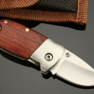 SE-BA WHITE PIGLET WOODEN HANDLE POCKET FOLDING KNIFE
