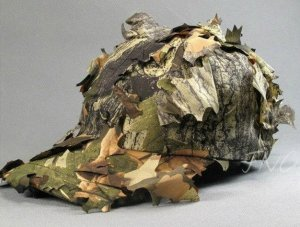 Men 3D Cap Jungle Camouflage Hunter Hunting Hat Cap Deciduous Leaves Bionic Hat