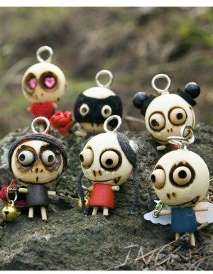 30xForest Ghost Figure Cell Phone Charm X'mas Gift Idea