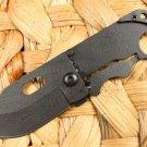 GIANT ROBOT Folding Pocket Knife w/ Dragon Carved Grip