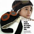 BRAND NEW AEROPLANE FIGHTER PILOT CAP HAT w/ EARFLAP FOR BABY BOY GIRL KIDS PLANE SCHOOL